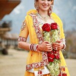 Latest Pakistani Bridal Multi Color Mehndi Outfits 2012 003
