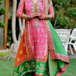 Latest Pakistani Bridal Multi Color Mehndi Outfits 2012 004