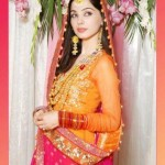 Latest Pakistani Bridal Multi Color Mehndi Outfits 2012 005