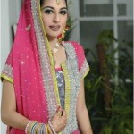 Latest Pakistani Bridal Multi Color Mehndi Outfits 2012 008