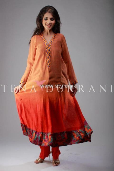 Tena Durrani 2012 Collection Latest Pieces