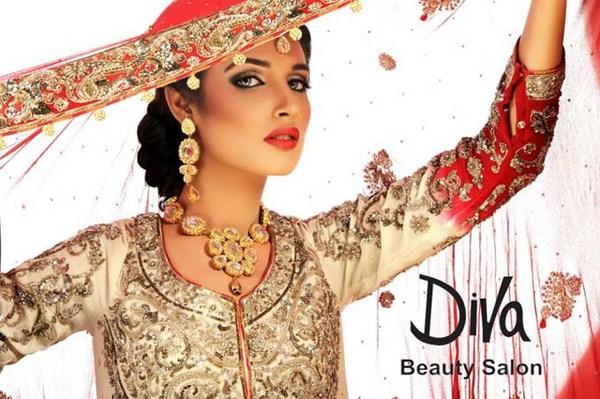Amina Ilyas Bridal Make Up By Diva Beauty Salon