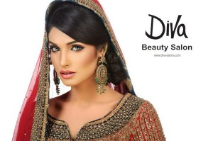 Amina ilyas bridal make up by diva beauty salon style pk for Adiva beauty salon