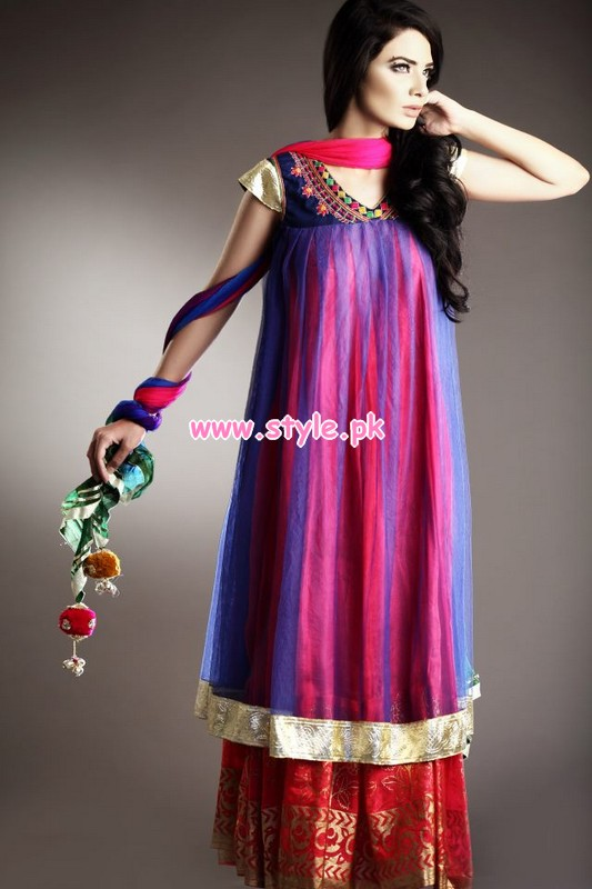 Pakistani Party Dresses for Teenagers Purple