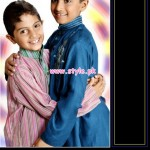 Latest Satrangi by Saqib Eid 2012 Kurta Shalwar Designs 002