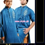 Latest Satrangi by Saqib Eid 2012 Kurta Shalwar Designs 003