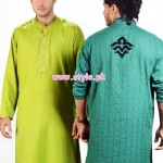 Latest Satrangi by Saqib Eid 2012 Kurta Shalwar Designs 004