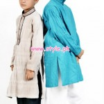 Latest Satrangi by Saqib Eid 2012 Kurta Shalwar Designs 005