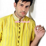 Latest Satrangi by Saqib Eid 2012 Kurta Shalwar Designs 006