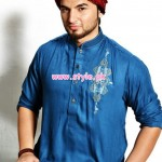 Latest Satrangi by Saqib Eid 2012 Kurta Shalwar Designs 008