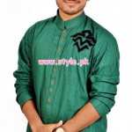 Latest Satrangi by Saqib Eid 2012 Kurta Shalwar Designs 010