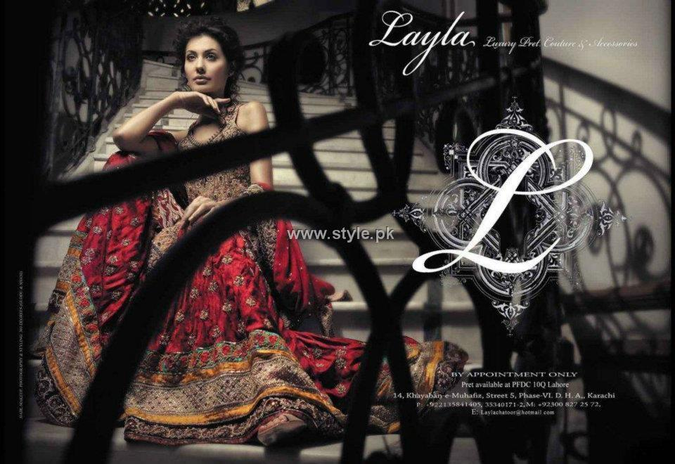 Layla Chatoor Bridals 2012 Collection for Women 001 wedding wear for women local brands