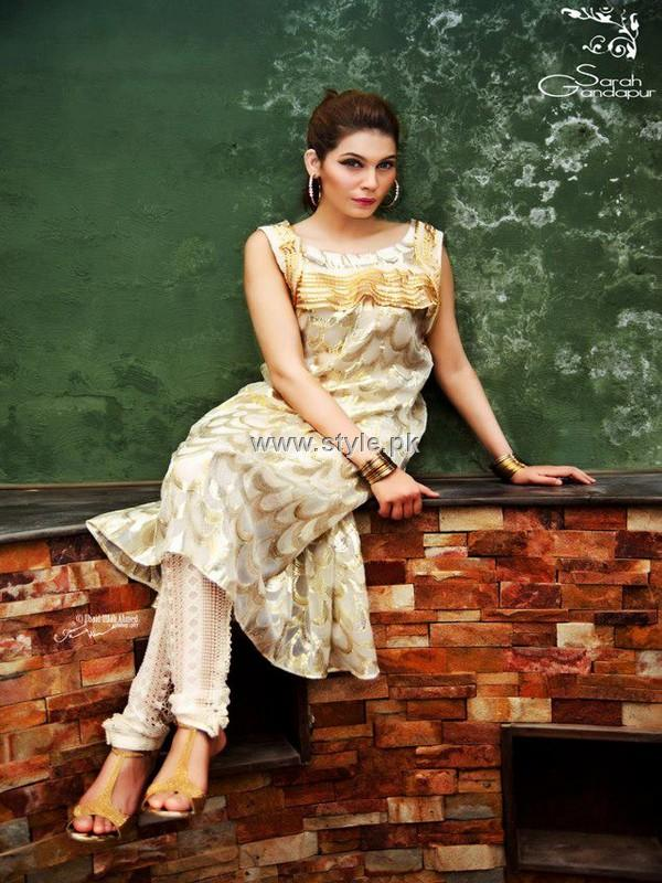 Sarah Gandapur Semi-Formal Dresses 2012 for Women