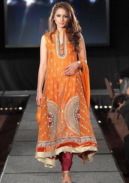 Naj Mehndi Dresses 2012 2013 For Women