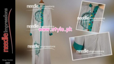 Needle Impressions Latest Winter Dresses For Women 2012 011