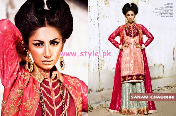 Sanam Chaudhry Latest Party Wear Collection For Women 2012 003 pakistani dresses