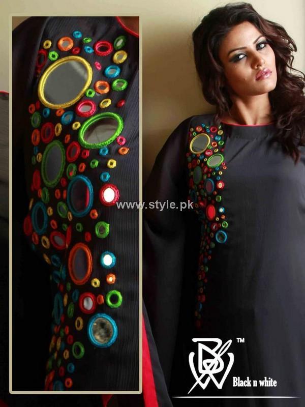 Black net dresses pakistani