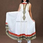 Fashion Of Frocks Designs 2013 For Girls 007