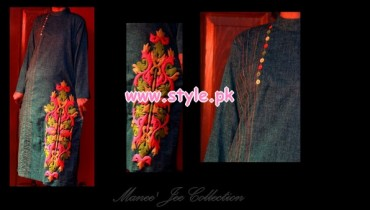 Latest Manne Jee Winter Dresses 2013 For Girls 007