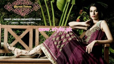 Latest Yasmin Zaman Winter Party Dresses 2012-13 009