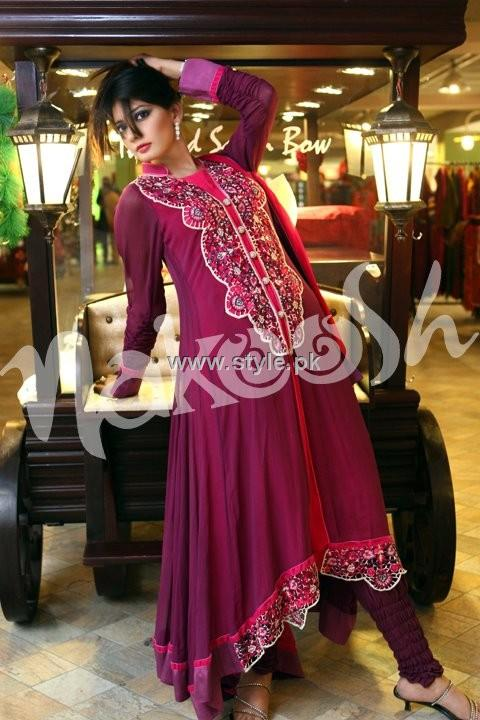 Party Wear Dresses 2013 For Girls – New Fashion Trends 006 style exclusives local designer clothes for women