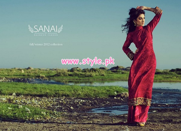 Sanai Latest Winter Collection 2012 By Nasreen Tareen 002 pakistani dresses