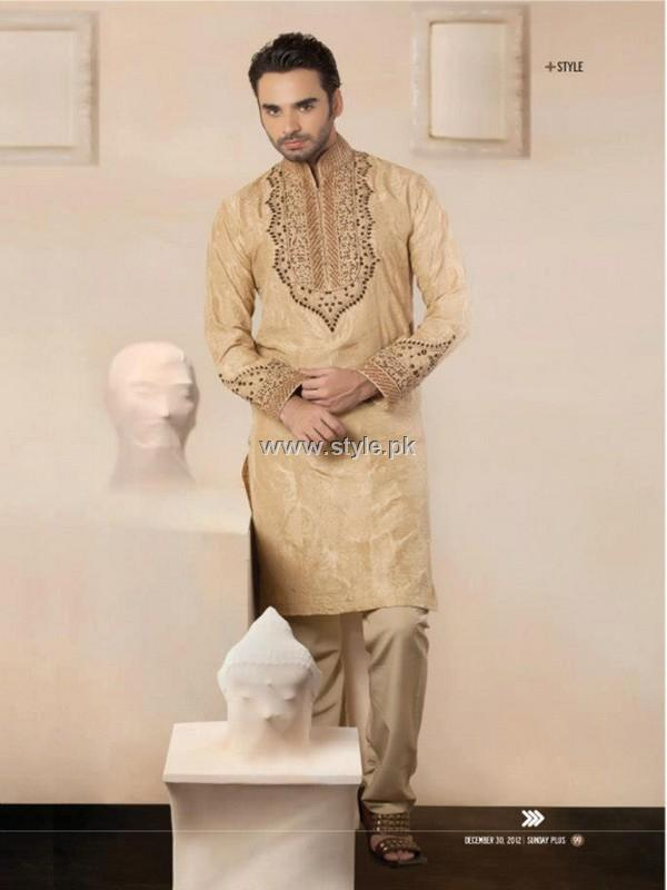 HSY Latest Menswear Collection 2013 001 men wear designer dresses