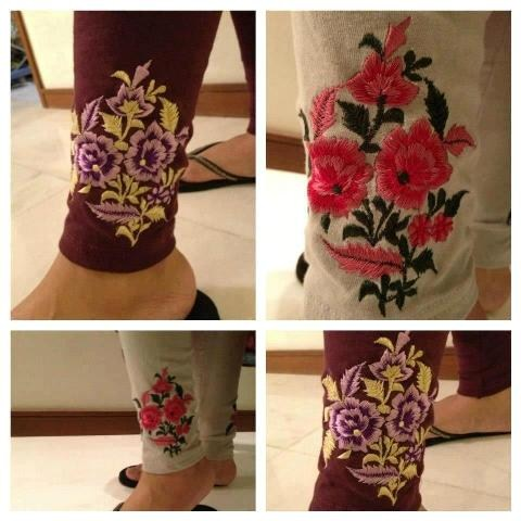 Pareesa Embroidered Tights Winter Collection 2013 For Women 001 pakistani dresses