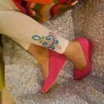 Pareesa Embroidered Tights Winter Collection 2013 For Women 0010