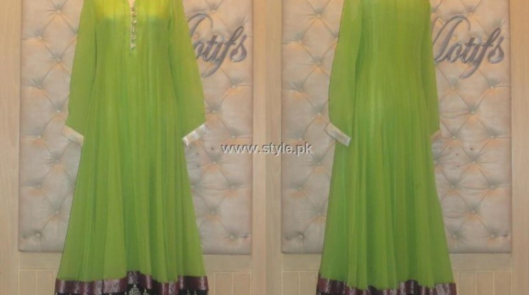 Threads and Motifs New Embroidered Dresses 2013 for Ladies