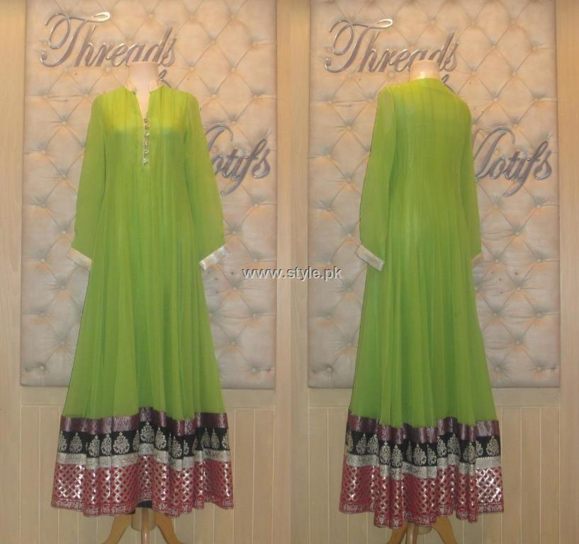 Threads and Motifs New Embroidered Dresses 2013 for Ladies 001 pakistani dresses