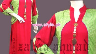 Zahra Ahmad Women Wear Outfits For Winter 2013 005