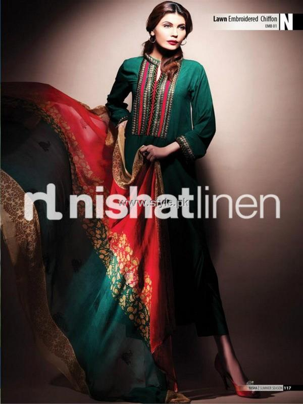 Nishat Linen Spring Summer Collection 2013 for Ladies 012 pakistani dresses fashion brands