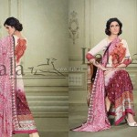 Sana & Samia Celebre Lawn Collection 2013 by Lala 003
