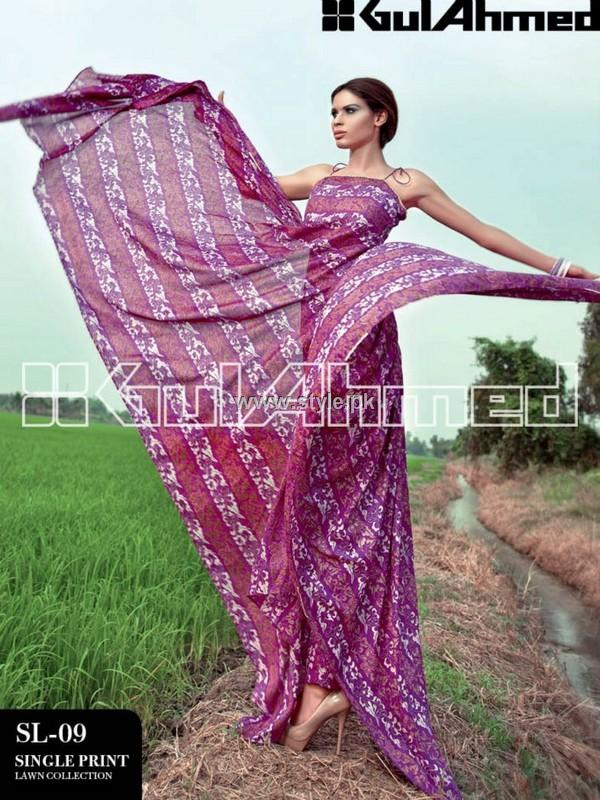 Gul Ahmed Single Lawn 2013 for Women 001 pakistani dresses fashion brands
