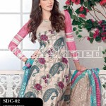 Gul Ahmed Summer 2013 Embroidered Fabrics 007