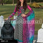 Gul Ahmed Summer 2013 Embroidered Fabrics 013