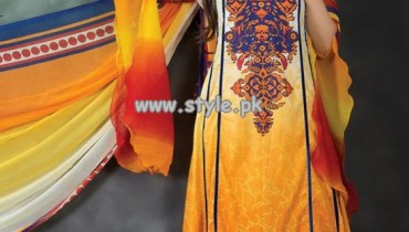 Hajiba De Chiffon Lawn Collection For Summer 2013 001