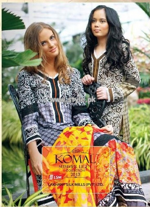 Komal Lawn Collection For Summer 2013 By LSM Fabrics 011 pakistani dresses fashion brands