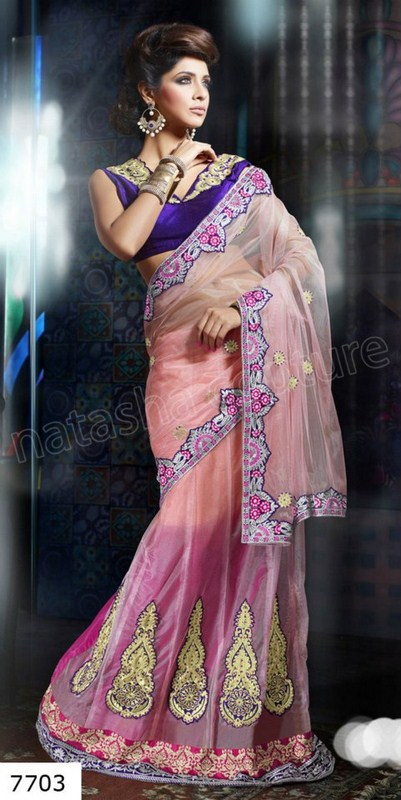 Natasha Couture Ghungroo Lehenga Sarees Collection 2013 For Women 003