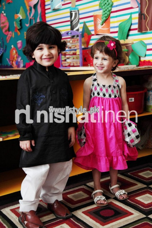 Nishat Linen Spring Summer Collection 2013 For Kids 011 kids wear 2