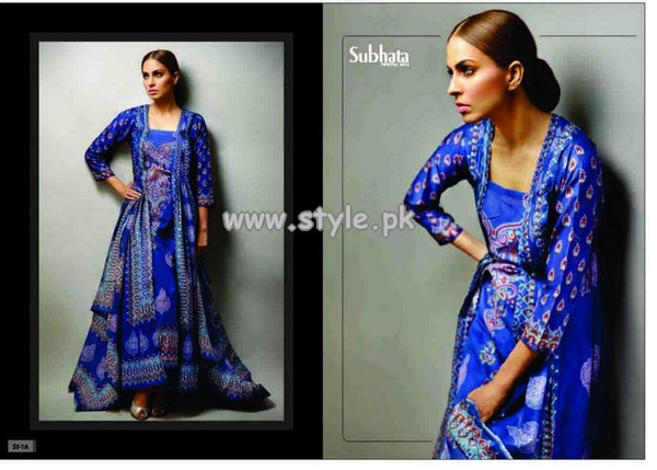 Subhata Lawn Prints by Shariq Textiles 2013 Volume 2 013