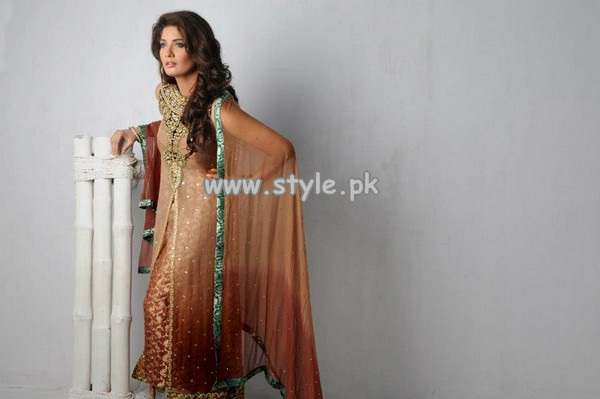 Umsha by Uzma Babar Party Wear Dresses 2013 004