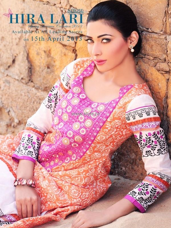 Hira Lari Spring Summer Collection 2013 by Afroze Textiles