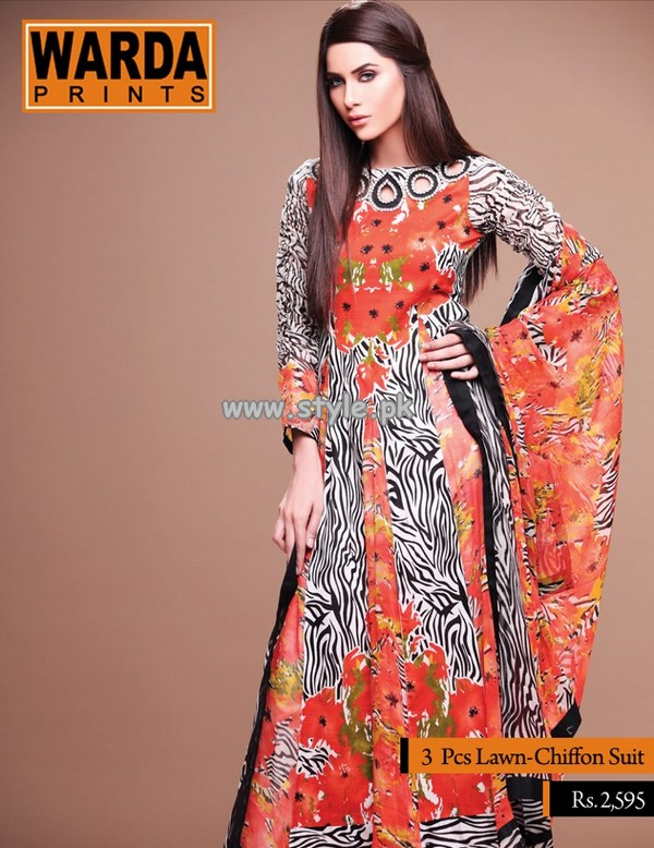 Warda Designer Collection Lawn Dresses 2013 Volume 2 001