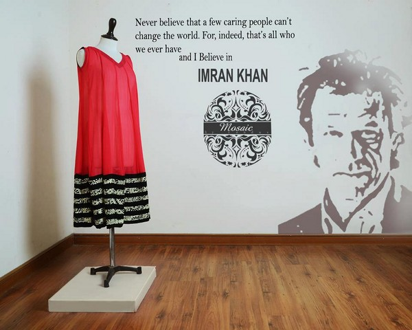 Mosaic by Sundus Naya Pakistan Collection 2013 For Imran Khan 007