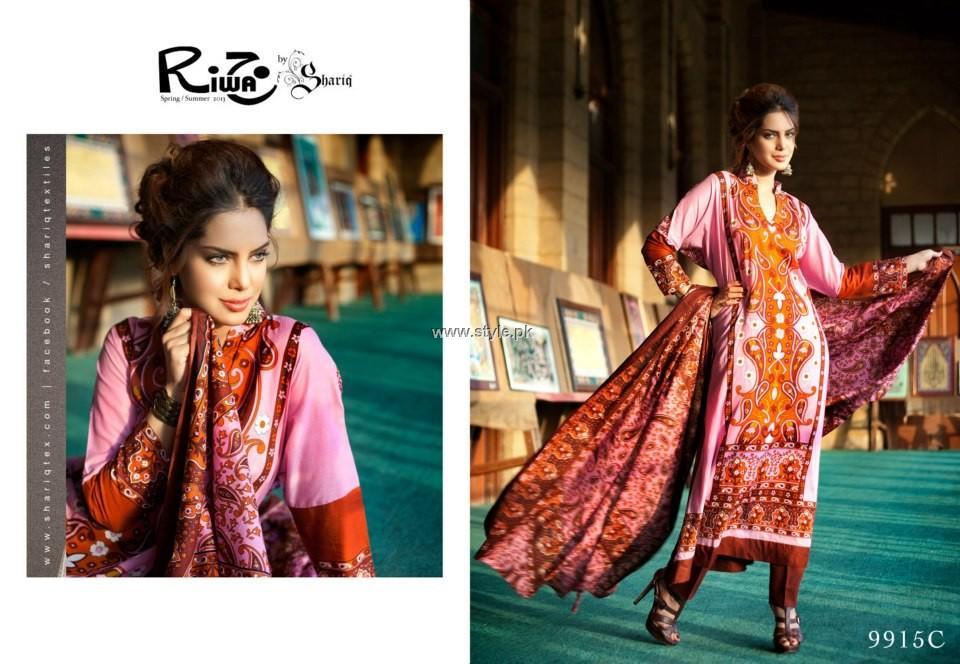 Shariq Textiles Riwaj Lawn 2013 volume 3 for Women