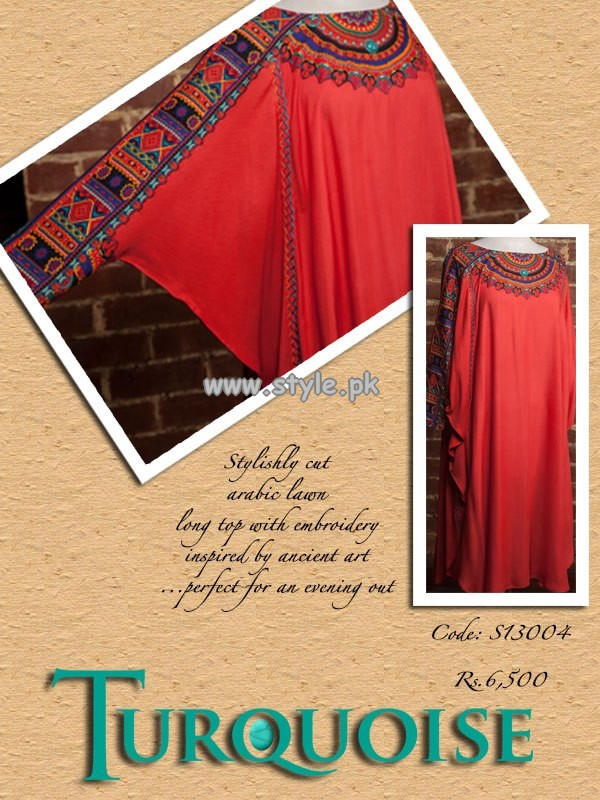 Turquoise Casual Wear Collection For Summer 2013 001