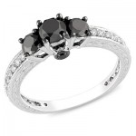 Black Diamond Engagement Rings 013 400x400