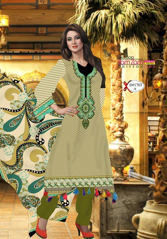Dawood Textiles Zam Zam Lawn Dresses 2013 Volume 3 For Women 0016